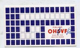 QSL Card - AK 347185 Finland - Imatra - Radio Amateur