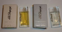 Lot 2 Miniatures DUPONT Essence Pure Homme + Femme EDT 5 Ml - Miniatures De Parfum