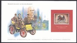 International Automobile Federation San Marino Peugeot Vis-A-Vis Vintage Automobile Stamp Card - Cars