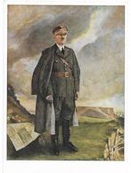 Adolf Hitler   - Portrait En Couleurs  - Propaganda  III Reich - Personen