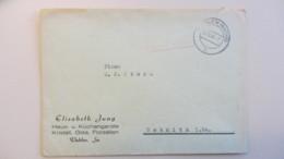 OPD: Brief 20.10.45 Dahlen (Sachs) R1 Rot, Nach Sebnitz I. Sa. (5 Pkte Nach Kopiak/Skupin)  Knr: Barfr. - Zone Soviétique