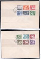 1949 Zum:297-308 2 Fdc. French Text  (ch251) - FDC