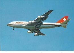 CP AVION BOEING 747 357  SWISSAIR HB-IGD - 1946-....: Era Moderna