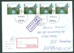 Bosnia And Herzegovina 2004 Old Bridge In Mostar River Neretva Meter Stamp Letter Cover Michel 135 - Bosnia Erzegovina