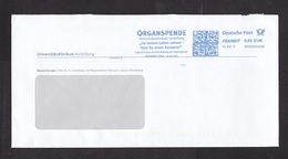 Germany: Cover, 2011, Meter Cancel, University Hospital Heidelberg, Organ Donation, Transplant, Health (roughly Opened) - [7] West-Duitsland