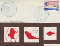 LETTRE. COVER. WALLIS ET FUTUNA. 1965. REINE AMELIA PREMIER JOUR. MATA-UTU - Covers & Documents