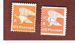 STATI UNITI (U.S.A.) - SG 1722  -  1978 EAGLE, NON VALUE, LETTER A (2 DIFFERENT PERFORATIONS)  - USED - Stati Uniti