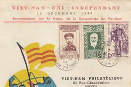 CARTE INDOCHINE 30 DECEMBRE 1949. - Indochina (1889-1945)