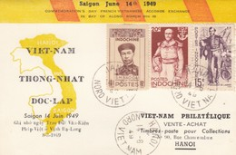 CARTE INDOCHINE 14 JUIN 1949. - Indochina (1889-1945)