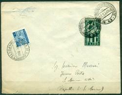 V9996 ITALIA REPUBBLICA 1949 Lettera Affrancata Con Biennale Venezia 15 L., Da Milano 12.12.49 Per San Marino, Tassata - 6. 1946-.. Repubblica