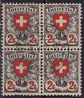 SCHWEIZ Mi. Nr. 197 Z O Viererblock (A-3-14) - Schweiz
