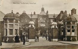 GROVE PARK, BARRACKS MAIN GATE ~ VINTAGE REAL PHOTO POSTCARD #84539 - London Suburbs