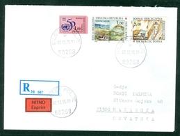 Bosnia And Herzegovina 1995 UN OUN Self-adhesive Hospital Bila Ljubuski Biletic Polje Letter Cover Michel 21 HP Mostar - Bosnia Erzegovina