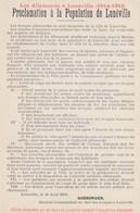 LUNEVILLE - Proclamation à La Population De Lunéville - Luneville