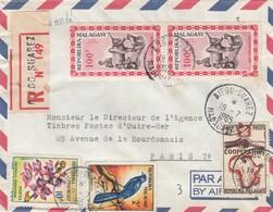 LETTRE COVER. MADAGASCAR.  RECOMMANDÉ DIEGO-SUAREZ POUR PARIS L - Lettres & Documents