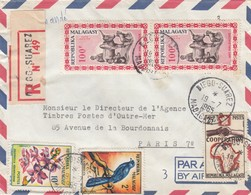 LETTRE COVER. MADAGASCAR.  RECOMMANDÉ DIEGO-SUAREZ POUR PARIS L - Madagascar (1889-1960)