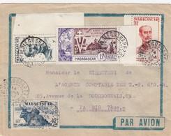 LETTRE COVER. MADAGASCAR.  1954 DIEGO-SUAREZ - Madagascar (1889-1960)