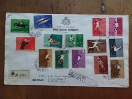 SAN MARINO - Olimpiadi Roma 1960 - Serie Su Raccomandata Con Annullo Arrivo + Spese Postali - Storia Postale