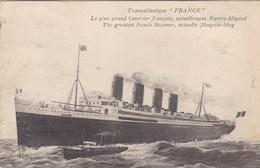 """Transatlantique """"France"""" - Le Plus Grand Courrier Français, Actuellement Navire-Hôpital - Bateaux"""