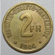 GADOURY 537 - 2 FRANCS 1944 TYPE FRANCE LIBRE - TTB - KM 905 - - I. 2 Francs