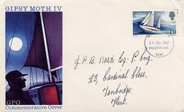 GRAN BRETAGNA - FDC 1967  -  GIPSY MOTH IV - Francis Chichester  Giro Del Mondo A Vela In Solitario - Vela