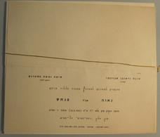 HOTEL PENSION INN REST HOUSE RAMAT AVIV WEDDING INVITATION TEL AVIV VINTAGE OLD ISRAEL PALESTINE - Hotel Labels