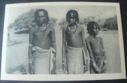 ANCIENT ORIGINAL NEW POSTCARD  OF GIRLS OF CHEDAULS IN ERITREA / ANTICA ED ORIGINALE CARTOLINA ERITREA - Eritrea