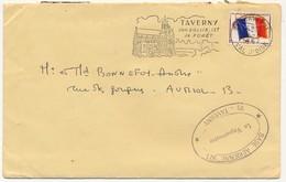 FM Drapeau Sur Enveloppe OMEC Taverny (Val D'Oise) / Base Aérienne 921 95 TAVERNY - Le Vaguemestre - Franchise Militaire (timbres)