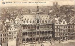 BRUXELLES - Panorama Pris De L'Hôtel De Ville Vers L'Eglise Ste-Gudule - Thill, Série 1, N° 113 - Oblitération De 1926 - Panoramische Zichten, Meerdere Zichten