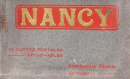 54-SUPERBE CARNET INCOMPLET DE 10/12 CPA DE NANCY - Nancy