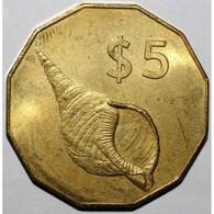 ILES COOK - 5 DOLLARS 2003 ELISABETH II - COQUILLAGE - FLEUR DE COIN - - Cook
