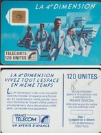 F39 V6.TELECARTE  4eme DIMENSION 120 U HOMMES 1988 PUCE SO2 FRAISAGE DOS De PUCE - Varietà