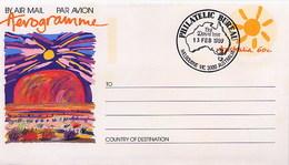 AUSTRALIA - FDC 1989 - Intero Postale - AEROGRAMME - ULURU - AYERS ROCK - Imponente Massiccio Roccioso - Geologia