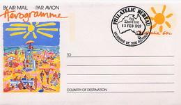 AUSTRALIA - FDC 1989 - Intero Postale - AEROGRAMME - SPIAGGIA - OMBRELLONE - BAGNINO - SURF TAVOLA - Ski Nautique