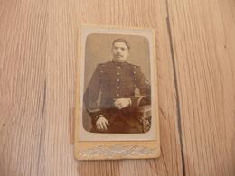 Photo CDV Petit Format Militaire Barnabé Dunkerque 1 Au Col - Guerre, Militaire