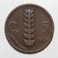 ITALIE - KM 59 - 5 CENTESIMI - 1928 - VICTOR EMMANUEL III - - 1861-1946 : Royaume