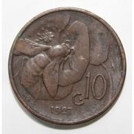 ITALIE - KM 60 - 10 CENTESIMI - 1927 - VICTOR EMMANUEL III - TTB - 1900-1946 : Victor Emmanuel III & Umberto II