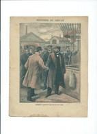 GAMBETTA Quitte Paris En Ballon En 1870  Protège-cahier Couverture Bien 225 X 170  3 Scans Charavay, Martin - Protège-cahiers