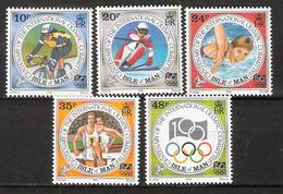 Isle Of Man 1994 100 Years International Olympic Committee (IOC)., Mi 609-613 MNH(**) - Man (Insel)
