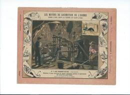 CHEMINS DE FER Les Tunnels Mont Cenis Côté Italie TB  Protège-cahier Couverture   225 X 170  3 Scans Garnier - Protège-cahiers
