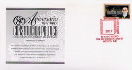 MESSICO - MEXICO - FDC 1997  -  ANNIVERSARIO COSTITUZIONE POLITICA MESSICANA - Messico