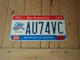 Plaque-auto-OHIO-BICENTENNIAL-1803-2003 - Plaques D'immatriculation
