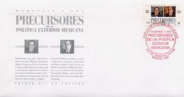 MESSICO - MEXICO - FDC 1996  -  PRECURSORES POLITICA EXTERIOR MEXICANA - Messico