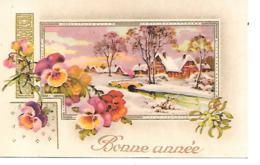 BONNE ANNEE MIGNONNETTE FORMAT 7 X11 CM - Nouvel An