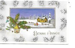 BONNE ANNEE MIGNONNETTE FORMAT 7 X11 CM EDUG DOUBLE - Nouvel An