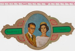 Boudewijn Baudouin Et Fabiola / Roi & Reine De Belgique Dynastie Grande Bague De Cigare - Tabac (objets Liés)