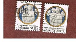 STATI UNITI (U.S.A.) - SG 1741  -  1978   CHRISTMAS (2 DIFFERENT PERFORATIONS)            -  USED - Stati Uniti