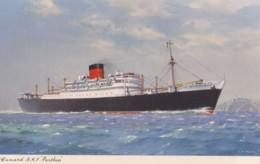 AM26 Shipping - Cunard R.M.S. Parthia - Artist Signed C.E. Turner - Steamers