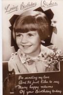 AN05 Birthday Greeting - Young Girl - RPPC - Birthday