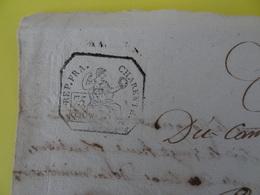 An 7, 30 Fructidor (Charente) Papier Timbré De 75c Commune De Lapéruse Mariage - Cachets Généralité